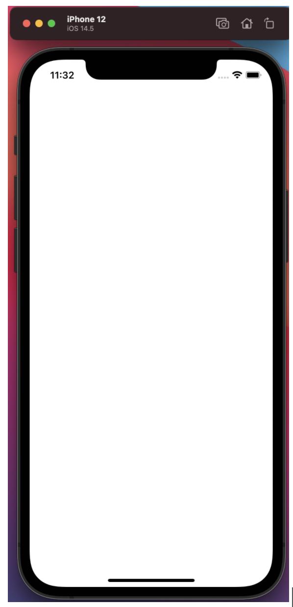 Simulator with blank screen