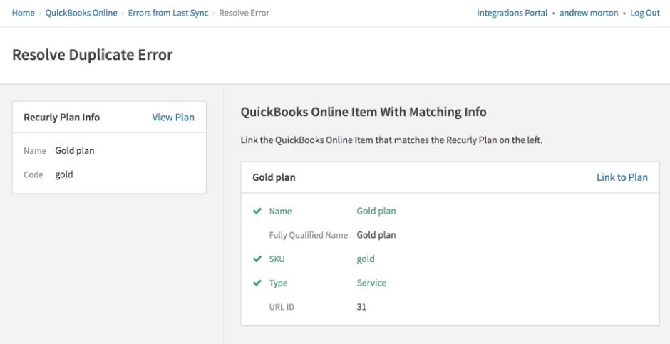 Recurly for QuickBooks Online