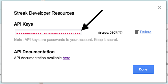 Keep your API key(s) secret.