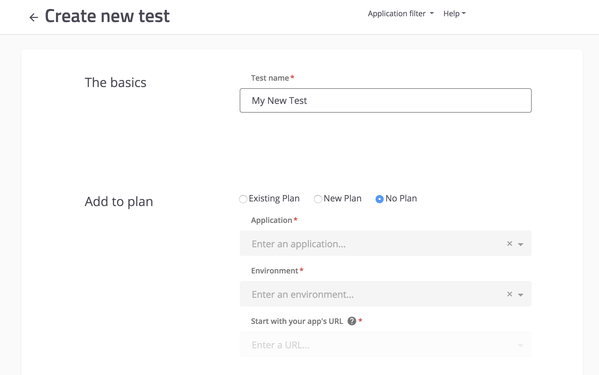 Basics of new test setup