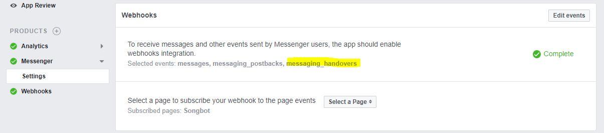 Use Facebook Handover