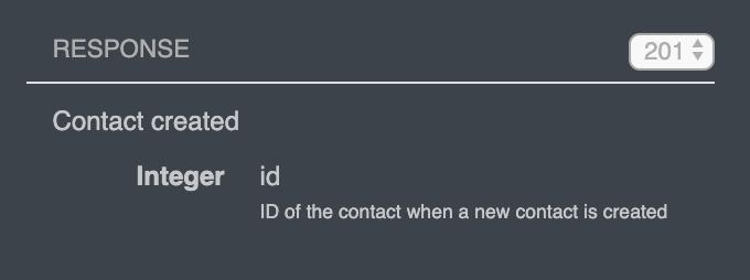 Sendinblue API response description