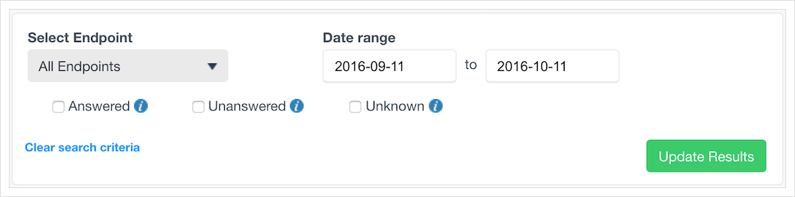 Filtering your VoIP call logs