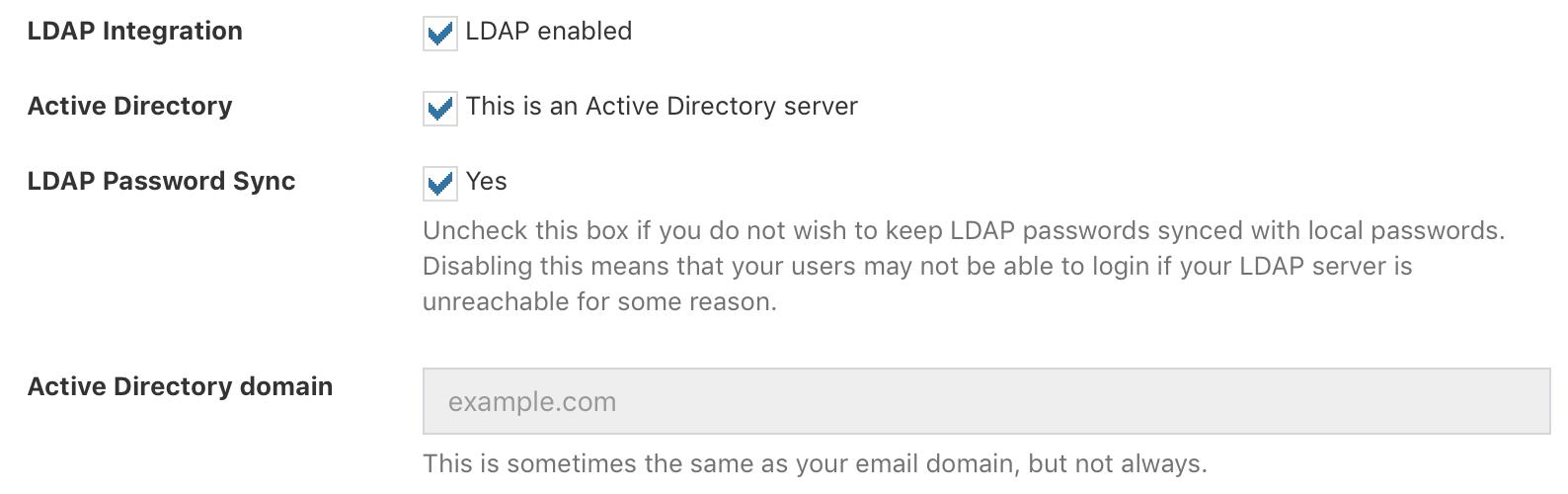 LDAP Sync & Login