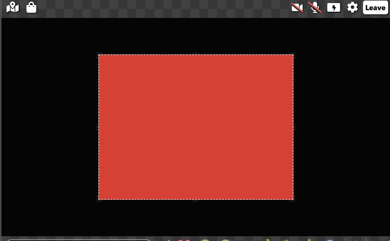 A fullscreen element with Fullscreen % set to 0.5.