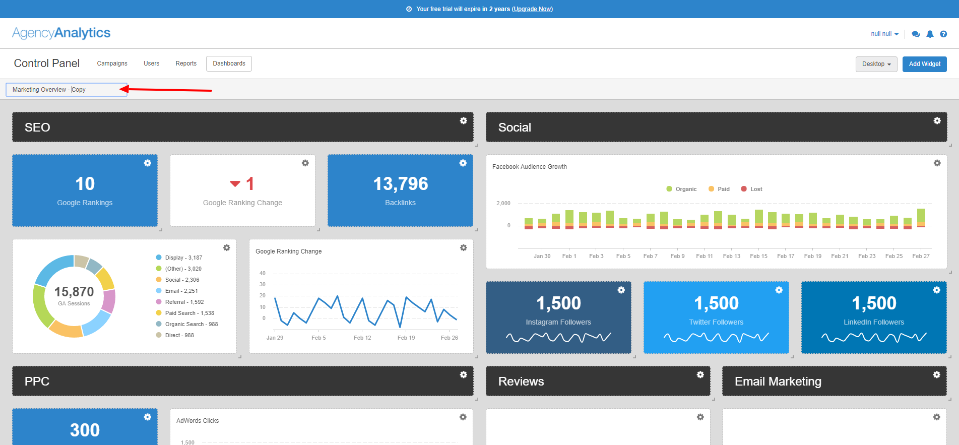 Clone A Dashboard Template - Analytics dashboard template