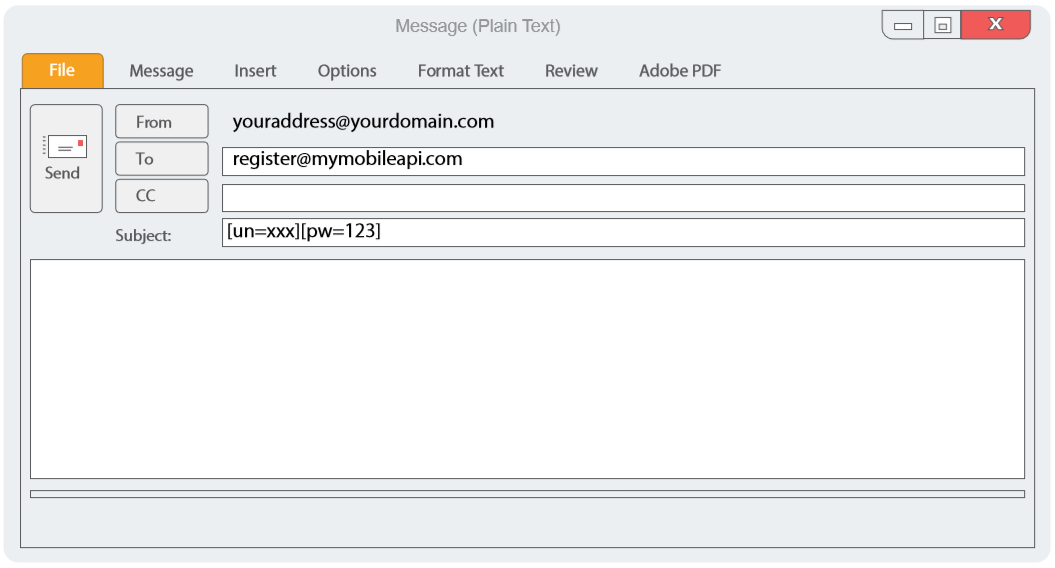 Secure Sending (Email to SMS)