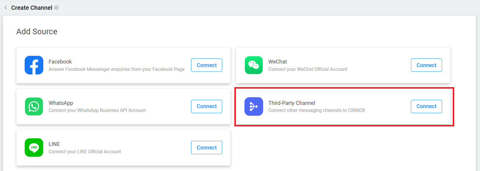 Selecting Third-Party Channel