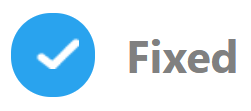 """The """"Fixed"""" icon is used to show that there are only documentation updates, so  all changes in the changelog do not impact the production environment."""