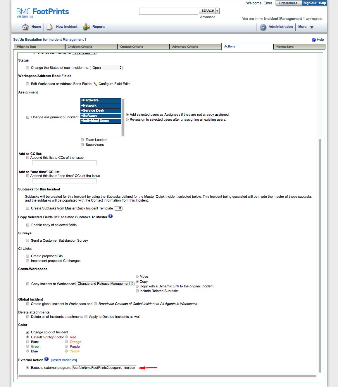 BMC FootPrints v11 Integration