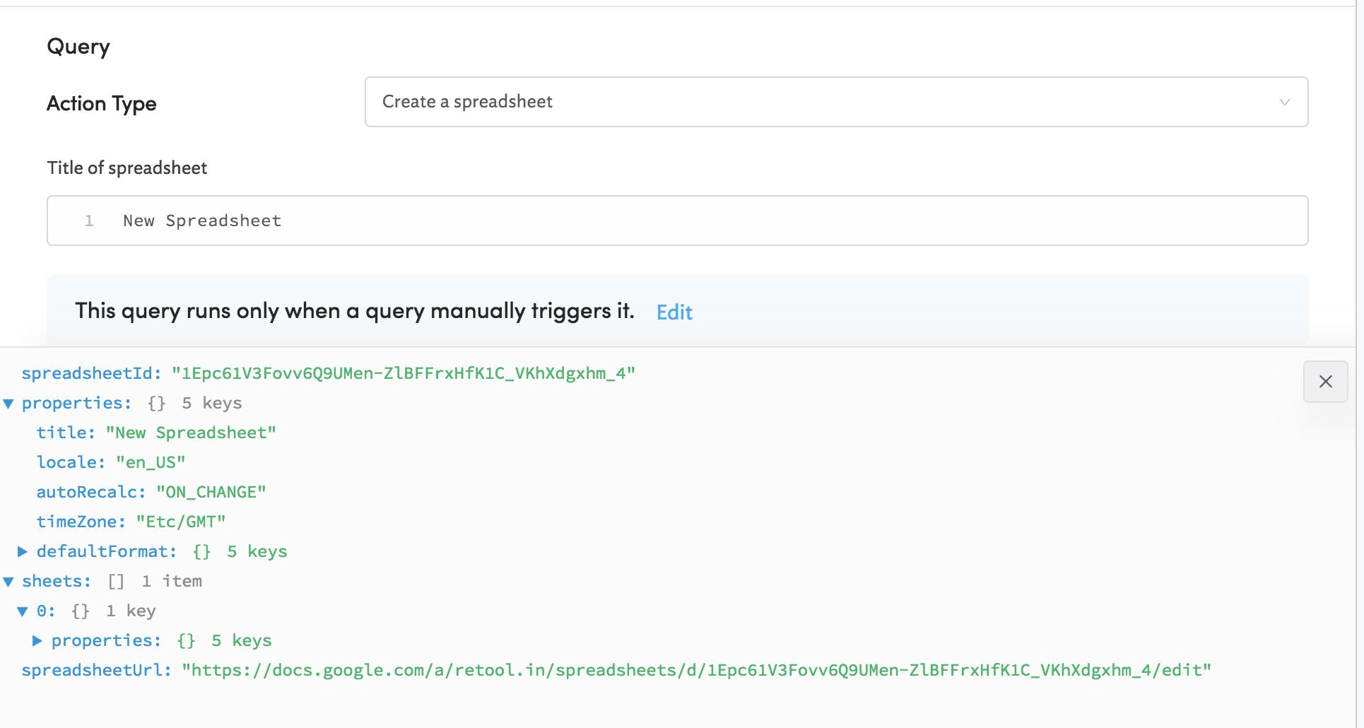 Google Sheets - Google spreadsheet
