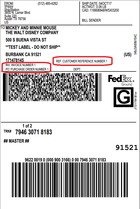 fedex label template word - fedex barcode format