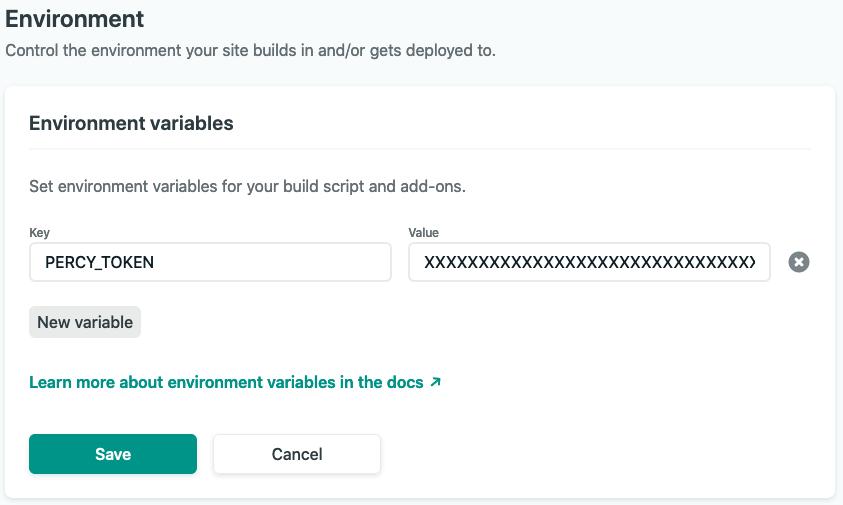 Netlify environment variable settings