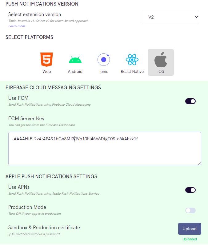 Using FCM and APNs