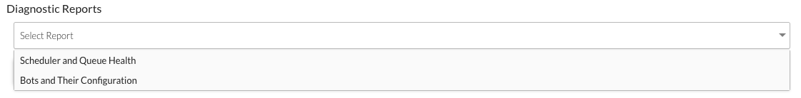 Select a Diagnostic Report