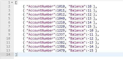 Opening Balance in API