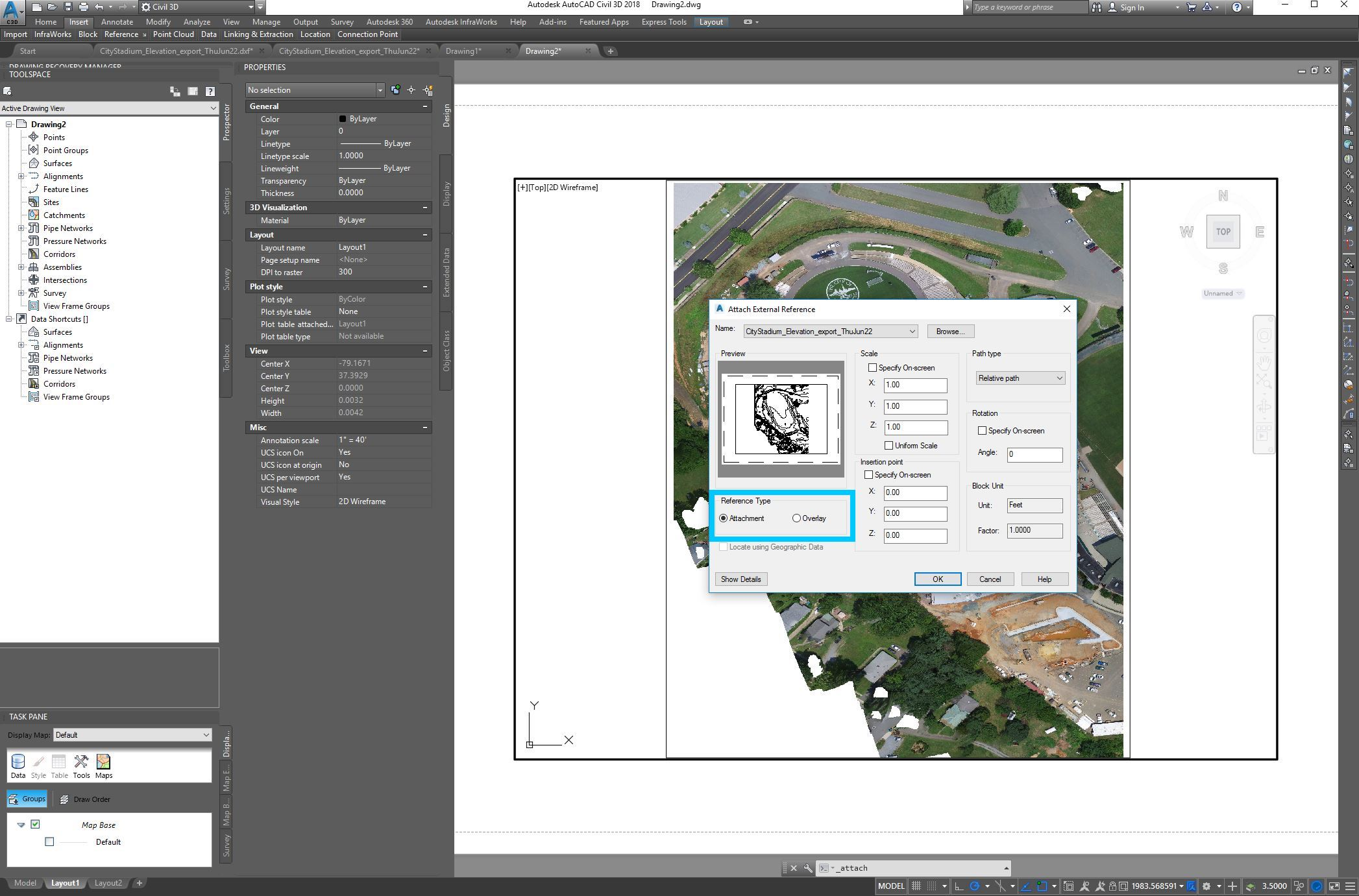 Please Check That Attachment Is Select Under The Reference Type To Finish,  Click Ok Your Download Contours And Dem From Google Earth