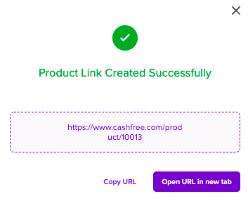 Product Link Created