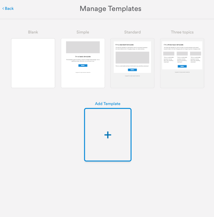 Email templates add your html to the code composer or alter the existing template if transferring templates from another esp remove unnecessary code maxwellsz