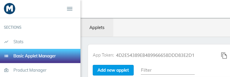 Access token is visible once you login Console.