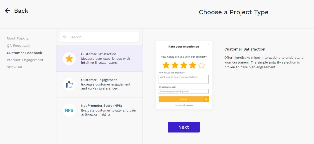 Usersnap Customer Feedback Widgets