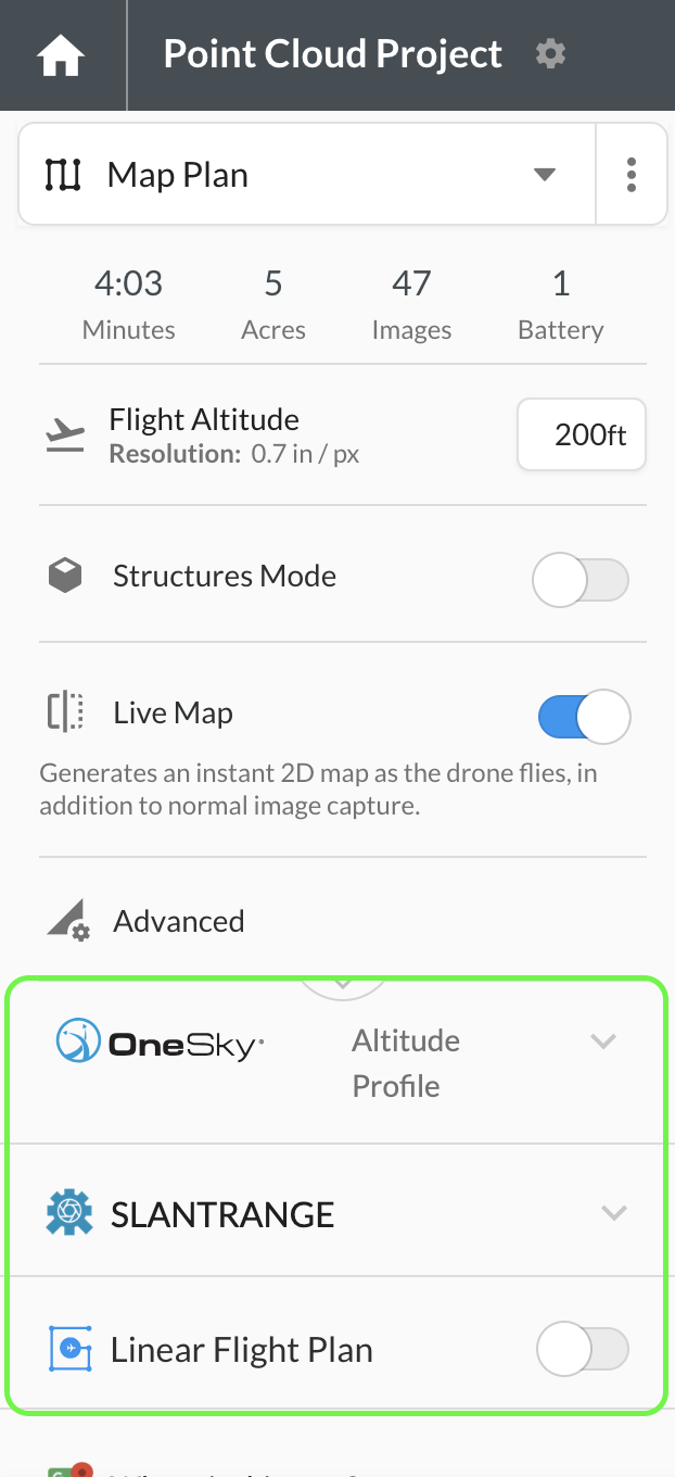 Apps related to flight planning and airspace compliance appear in the flight interface.