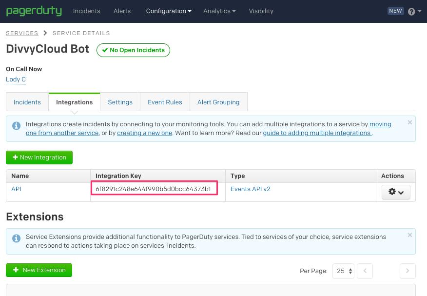 Generating PagerDuty's Integration Service Key