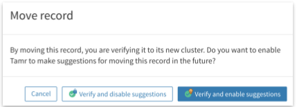 Moving a record to another cluster