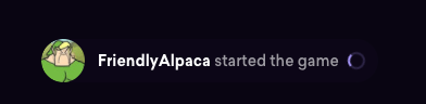 A loading message from FriendlyAlpaca.