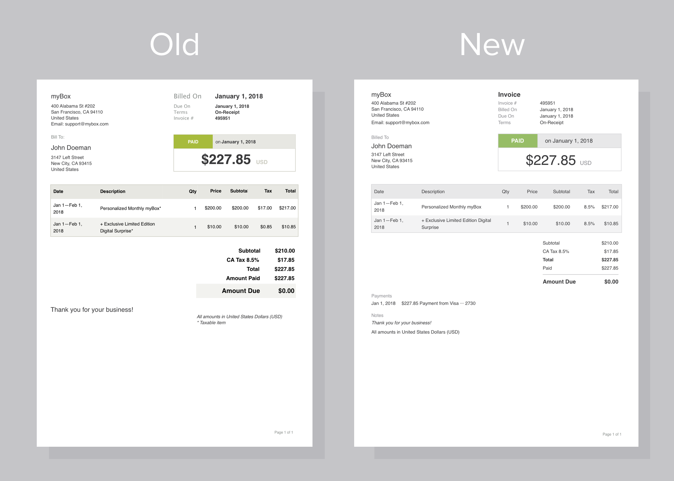 Recurly Documentation  Digital Invoices