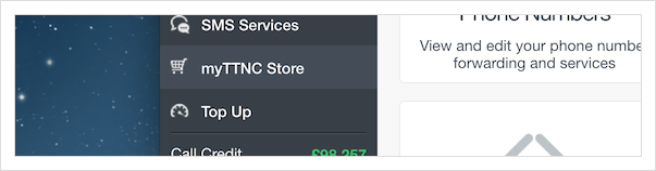 Click on 'myTTNC store