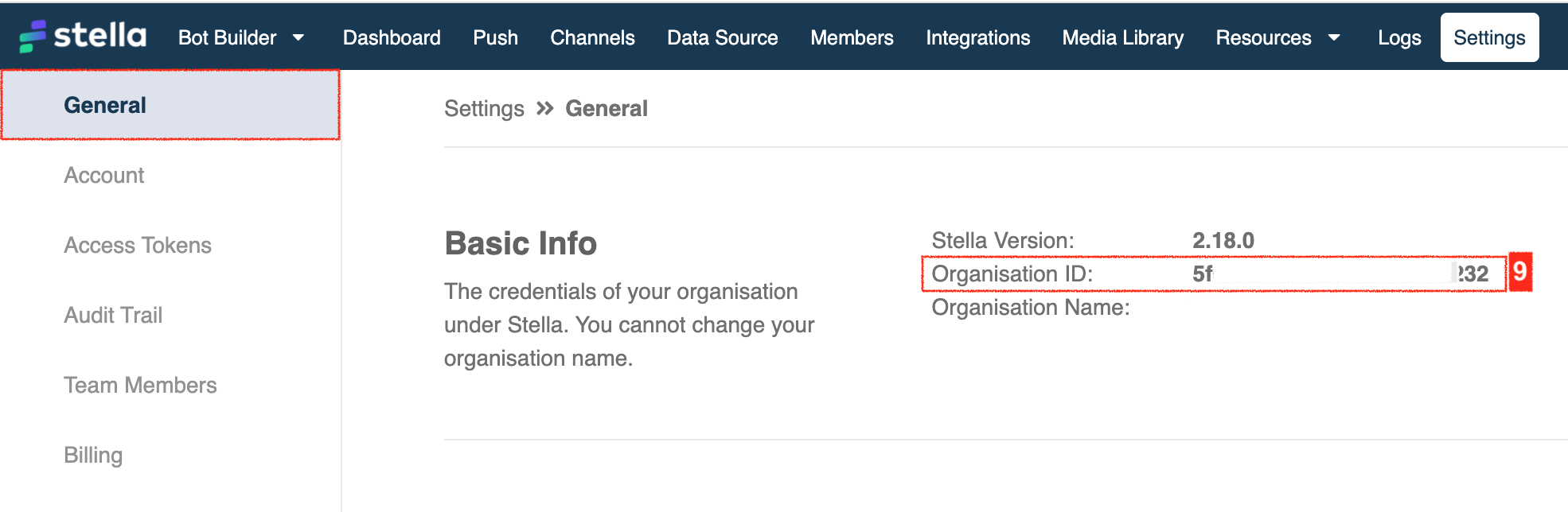 Sanuker Stella - Organisation ID