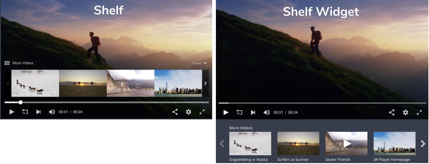 Shelf and Shelf Widget display modes
