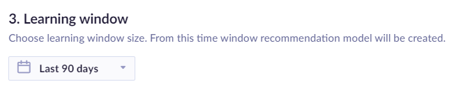 Example of learning window