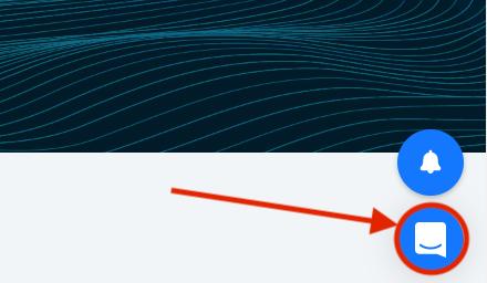 Click the Intercom icon in the bottom right corner