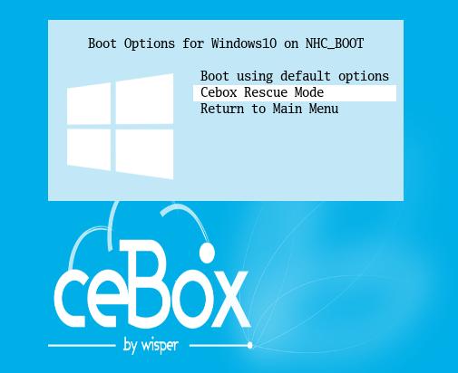 """choisir """"Cebox Rescue Mode"""""""
