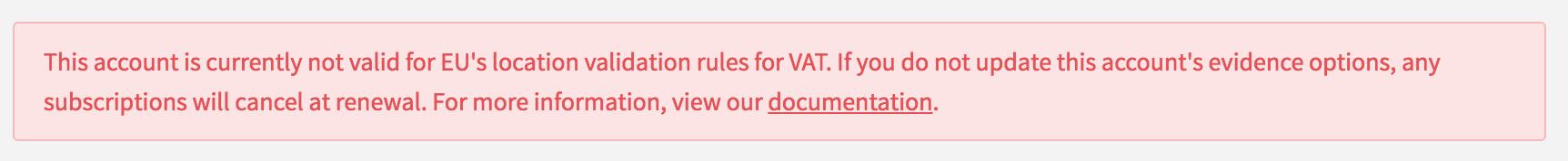 VAT Location Validation