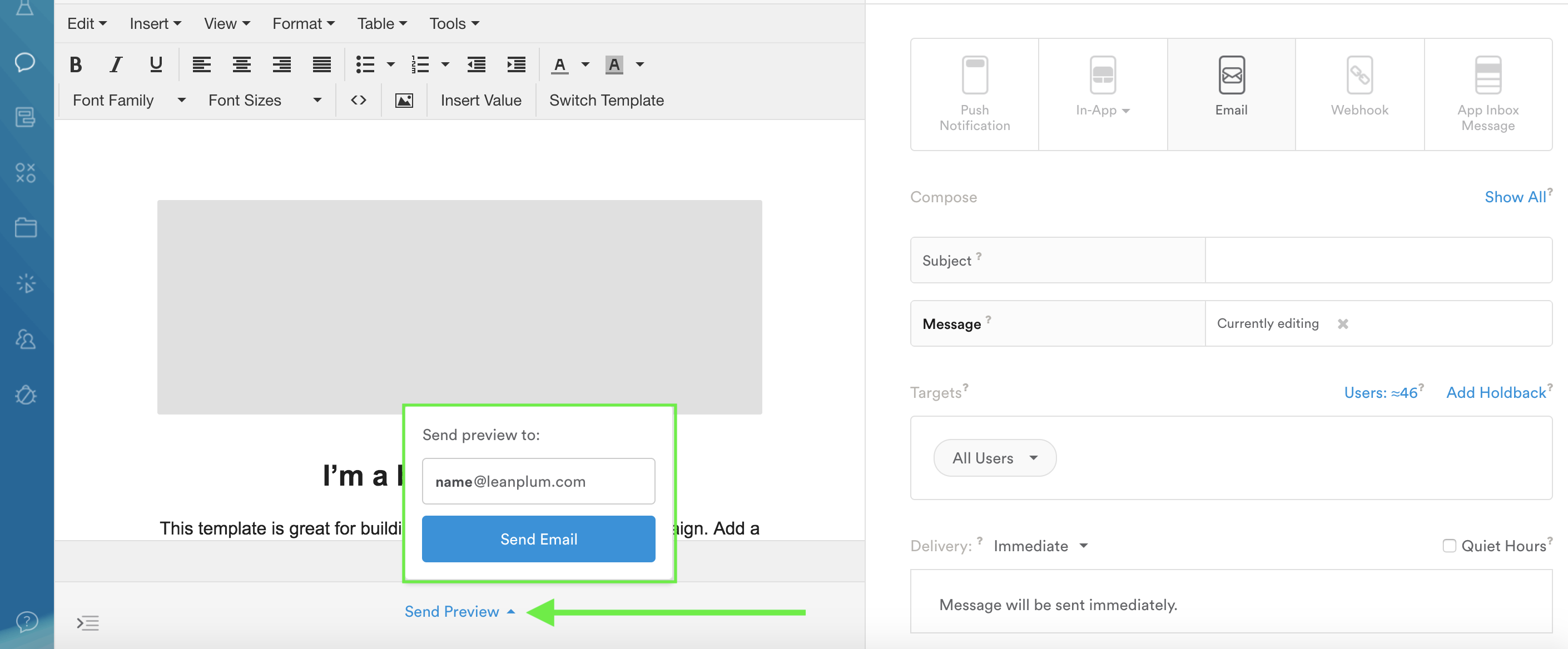 Note that email preview activity will count towards your message's delivered, open, and click rates.