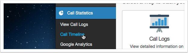 Click the 'Call Timeline' link in the left hand menu