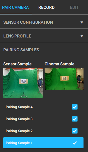 On the left is the sensor image, on the right is the camera image.