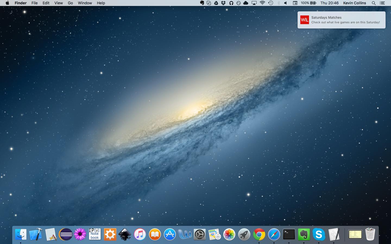 Example of a Safari push notification on desktop.