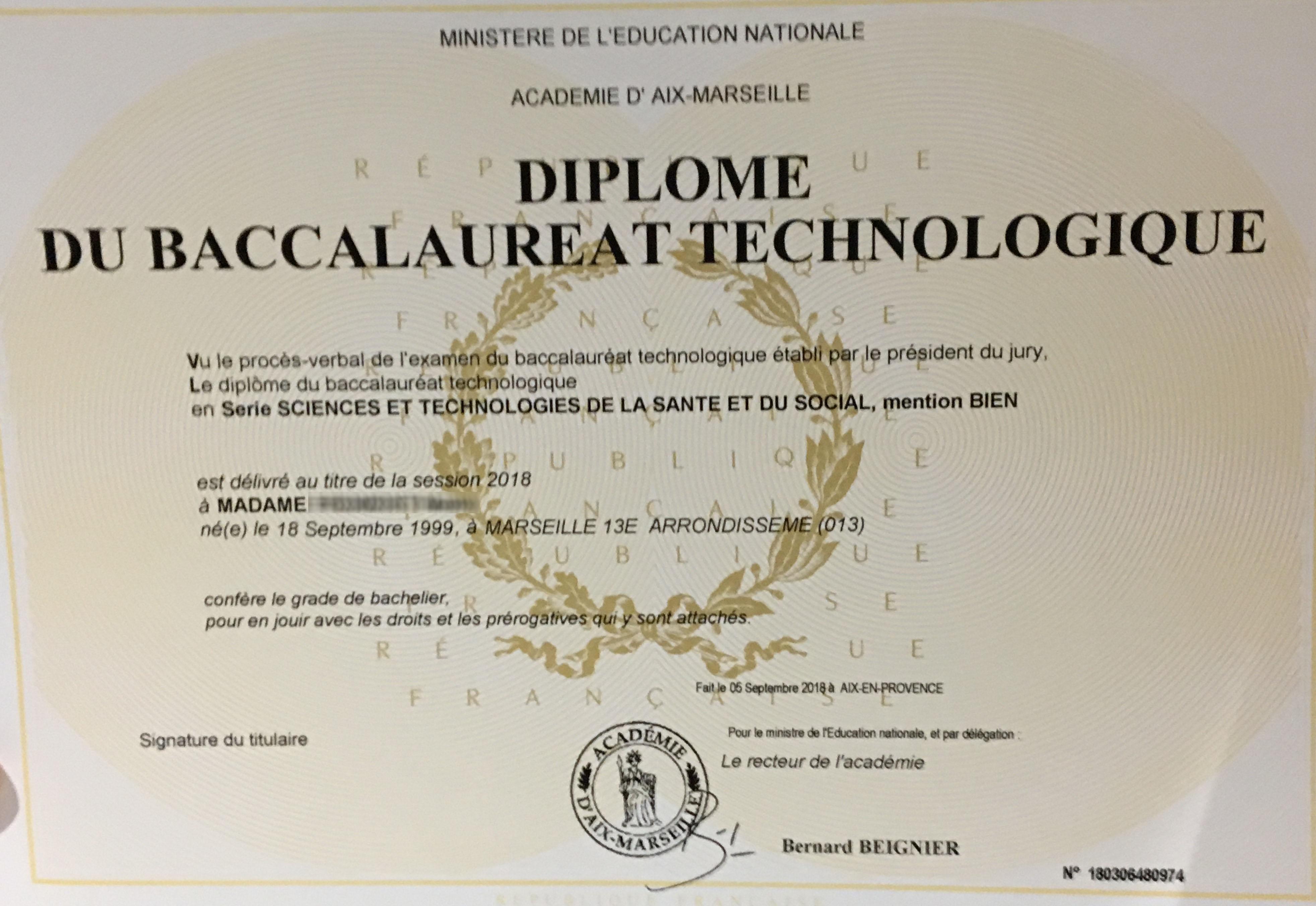 Diploma key data extraction