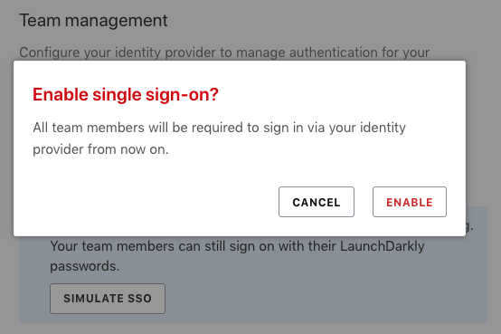 Enabling single sign-on
