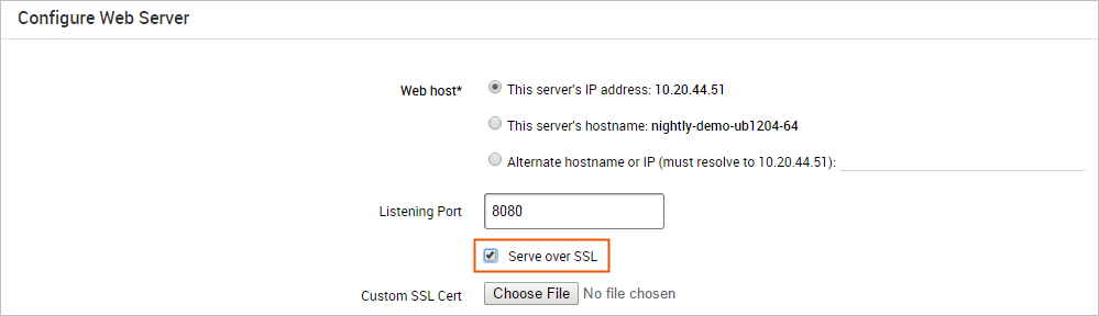Uploading Custom SSL Certificates