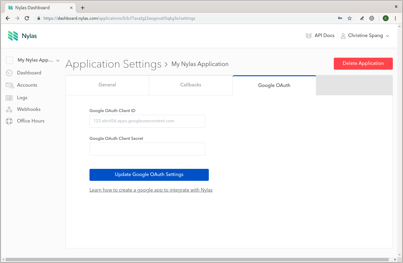 Native Authentication Setup for Google OAuth