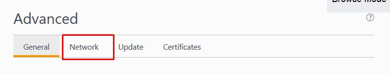 Parsehub network tab