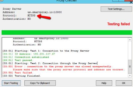 Proxifier proxy checker error
