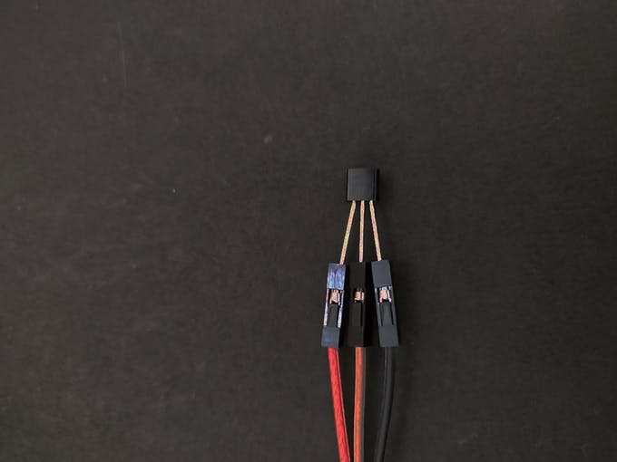 Connecting LM35 to jumper wires
