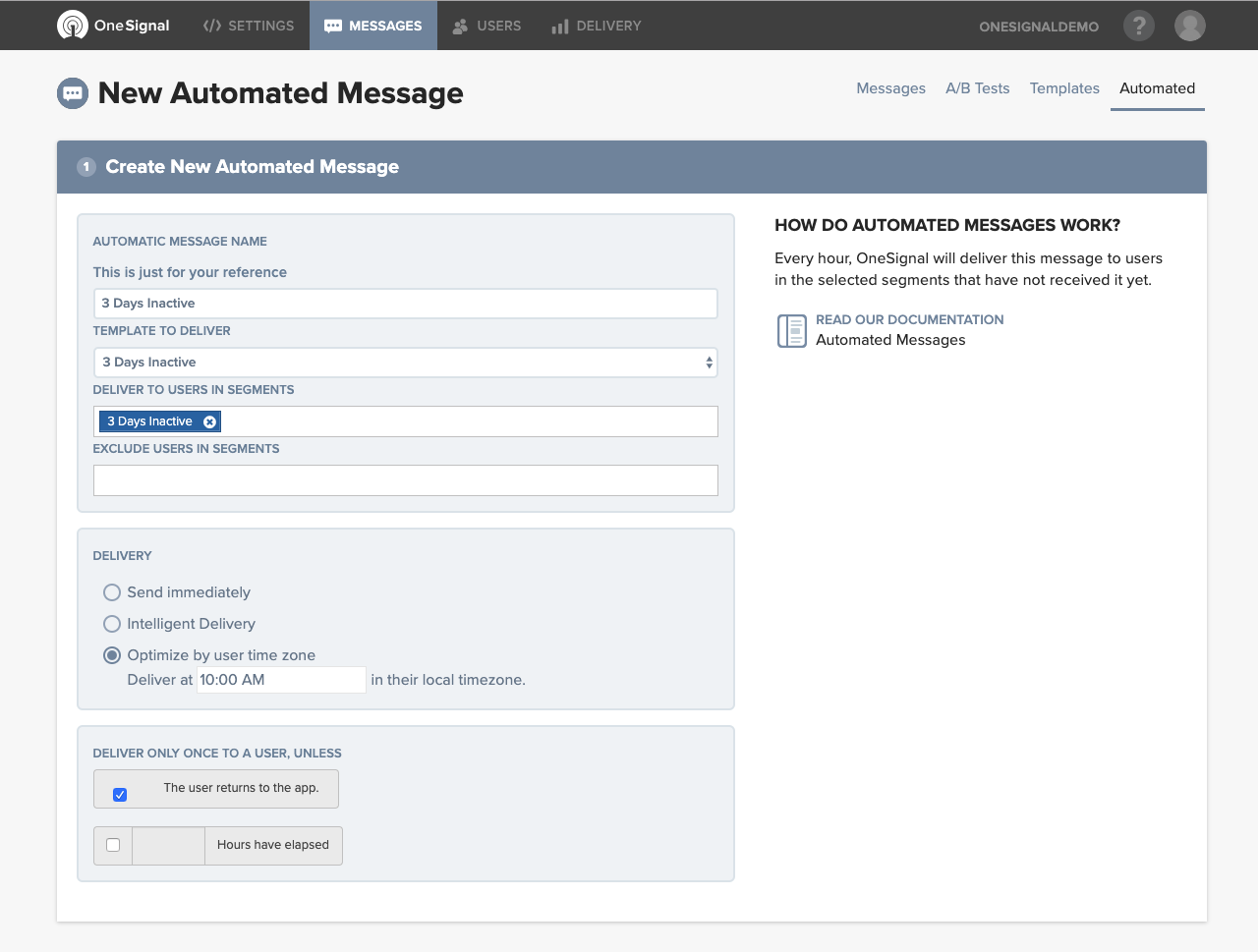 Automated Messages
