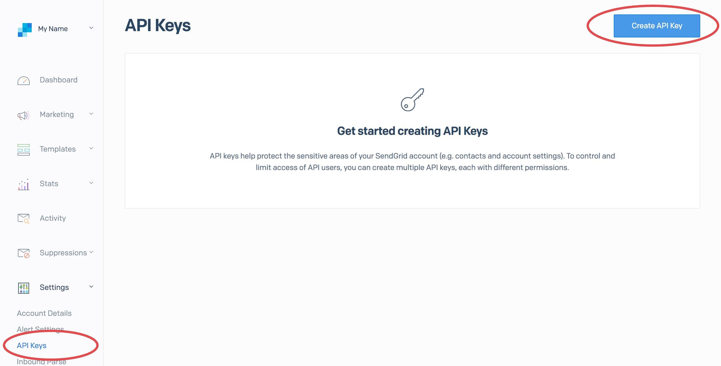 SendGrid API Keys Generation: SendGrid Salesforce